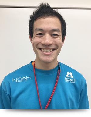 さわやかな笑顔の島田コーチ